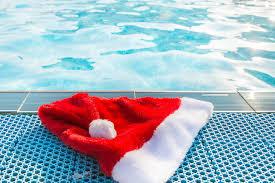 santa hat pool